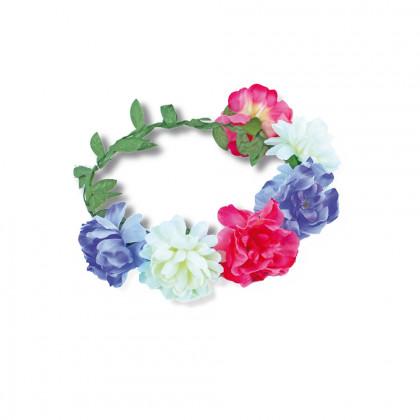čelenka veniec s kvetinami farebný