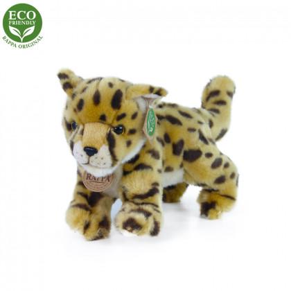 Plyšový gepard mláďa stojace s tvarovateľnými končatinami, 22 cm ECO-FRIENDLY