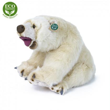 Plyšový ľadový medveď sediaci 43 cm ECO-FRIENDLY