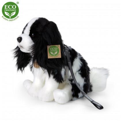 Plyšový pes Kavalier s vodítkom 27 cm ECO-FRIENDLY