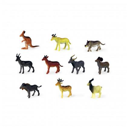 Zvieratá divoká, 10 ks v sáčku, 3 druhy
