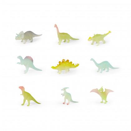 Dinosaury, svieti v tme, 9 ks vo vrecku