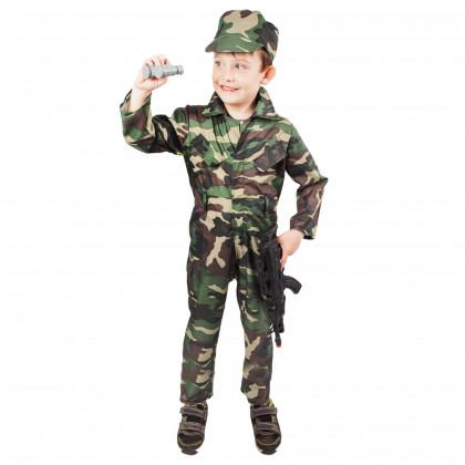 Detský kostým Vojak Woodland (M)