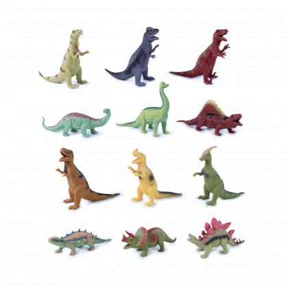 Dinosaurus 12 druhov, mäkké telo, 20 - 22 cm