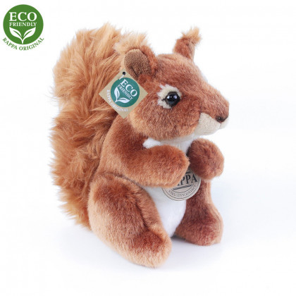 Plyšová veverička 18 cm, ECO-FRIENDLY