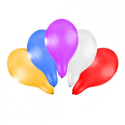Balónik nafukovacie metalický 30 cm, 5 ks