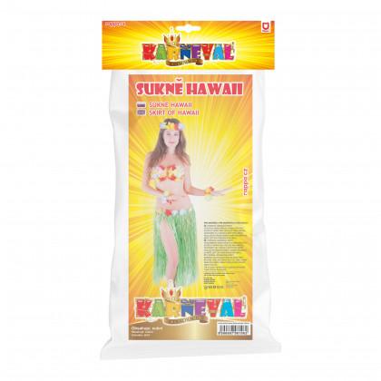 sukňa Hawaii dospelá 72 cm, zelená