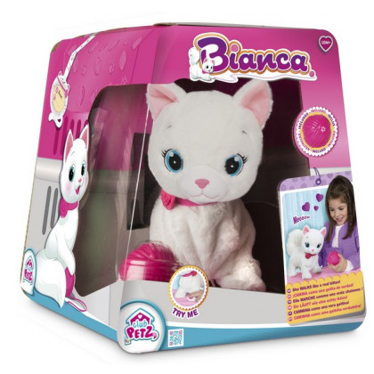 plyšová mačka Bianca - interaktívna mačička