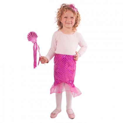 Detská sukňa Morská panna ružová