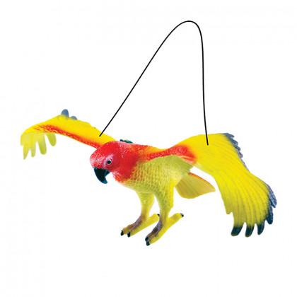 Papagáje, 4 druhy, 12 x 30 cm
