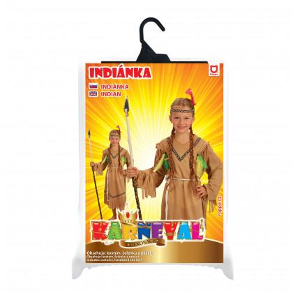 Detský kostým Indiánka s čelenkou (M)