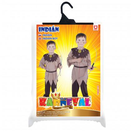 Detský kostým Indián s pásikom (M)